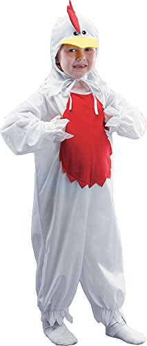 [Children's Animal Dress Up Book Week Fancy Party Panto Chicken Rooster Jumpsuit] (Panto Costumes For Kids)