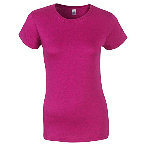 Gildan - Ladies Fitted Softstyle T-Shirt / Antique Heliconia, M