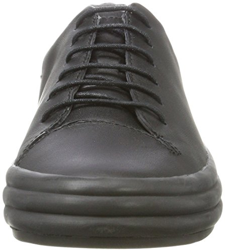 CAMPER Damen Hoops Sneaker, Weiß, 39 EU Schwarz (Black 001)