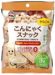 こんにゃくスナックきなこ味(1袋10g)×20袋入こんにゃくせんべい