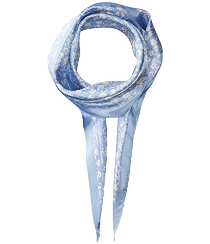 Lauren Ralph Lauren Silvia Silk Diamond Shape Scarf (Light Blue, One Size)