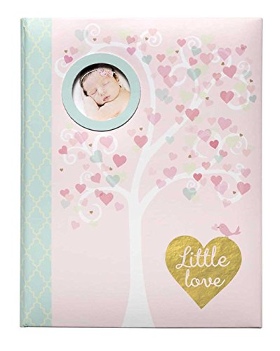 C.R. Gibson Pink 'Little Love' Baby Girl Memory Book for Newborns, 64 pgs.,  9'' W x 11.125'' H ()