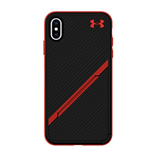 Under Armour Phone Case | for Apple iPhone X and 2018 iPhone Xs | Under Armour UA Protect Kickstash Case with Rugged Design and Drop Protection - Black/Red
