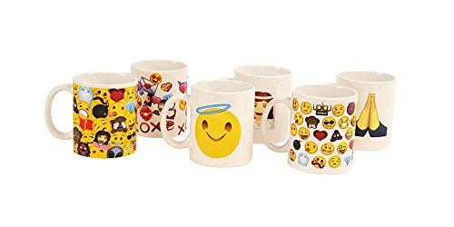 Kangaroo's Emoji Coffee Mug Set - 6 Pack