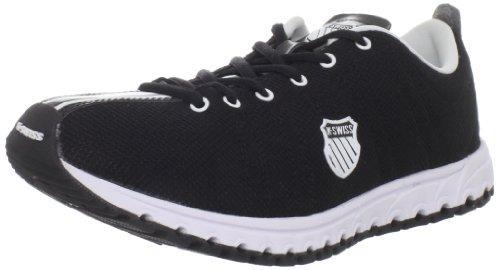 K-Swiss Women's Micro Tubes Classic Running Shoe,Black,7 M US (Shoes Womens Running Swiss K)