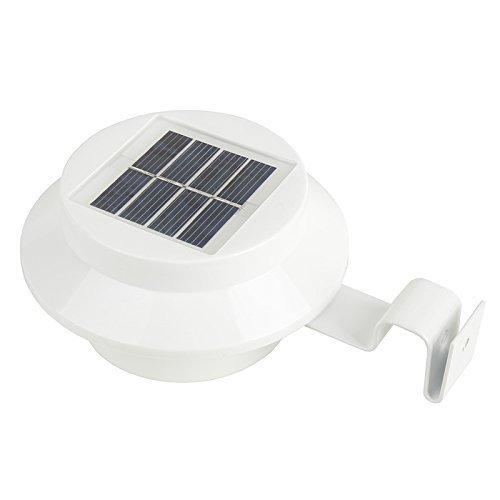iSunMoon Outdoor Solar Powered LED Gutter Light Fence Roof Gutter Garden Yard Wall - Roof Mount Low Ground Profile