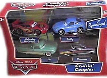 Disney / Pixar CARS Movie 1:55 Die Cast 4-Pack Cruisin Couples (McQueen, Sally, Flo & Ramone) by Mattel: Amazon.es: Juguetes y juegos