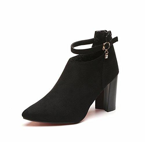 e autunno punta dimensioni e in Thirty tacchi alti aguzza grandi di inverno femmina scarpe seven i Donyyyy stivaletti e spessore con 6na76Sz
