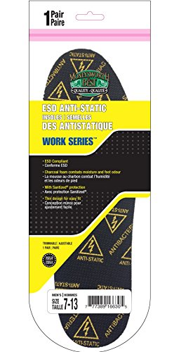 Moneysworth & Best Work Series ESD Anti-Static Insole, Size 7 to 13 Trimmable