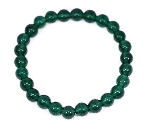 - Lovelybead Gemstone Bracelets Natural Genuine Gemstones Birthstone Handmade Healing Power Crystal Beads Elastic Stretch 8mm 7.5 Inch Unisex (Emerald Green Jade)