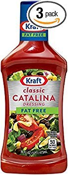 Kraft Free Catalina Fat Free Salad Dressing 16oz Bottles (Pack of 3)