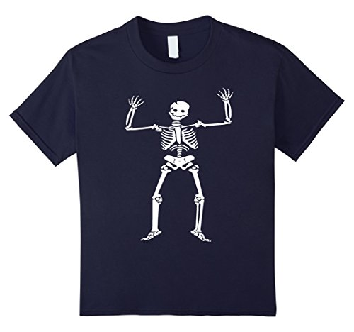 Kids Halloween Smiling Skeleton Costume Shirt 12 (Halloween Costumes For Medical Office)