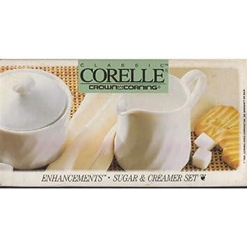 Classic Corelle Crown Corning Enhancements Sugar \u0026 Creamer Set No. 6109069  sc 1 st  Amazon.com & Amazon.com | Classic Corelle Crown Corning Enhancements Sugar ...