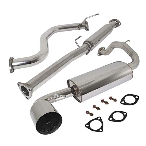 Fit 1988-1991 Honda Civic (Hatchback Models Only) 2.5 Inch Stainless Steel Catback Exhaust System 4.5 Inch Muffler Tip
