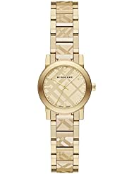Burberry Womens Swiss Gold Ion-Plated Stainless Steel Bracelet Watch 26mm BU9234