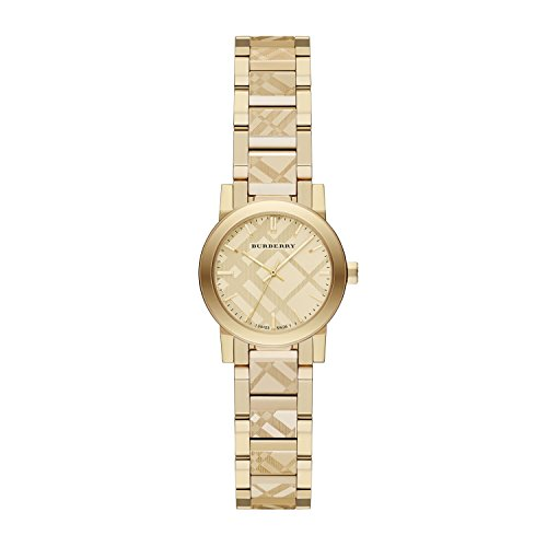 Burberry Women's Swiss Gold Ion-Plated Stainless Steel Bracelet Watch 26mm - Pattern Check Burberry