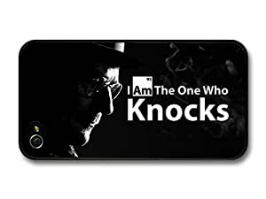 AMAF ? Accessories Breaking Bad Walter White I Am the One Who Knocks Quote Black Background case for iPhone 6 4.7