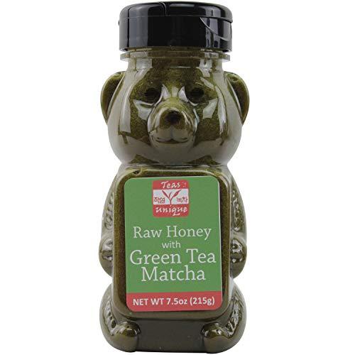 Teas Unique Raw Honey with Green Tea Matcha, 7.5oz -
