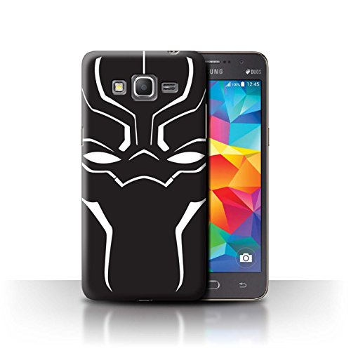 STUFF4 Phone Case/Cover for Samsung Galaxy Grand Prime/Face Mask Design/Black Panther Inspired Collection