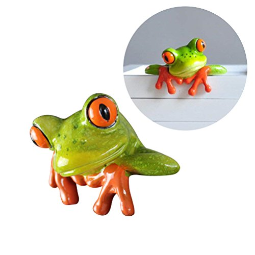 (Toyvian Frog Figurines - HE is Looking at You | Frog Desktop Car Decoration, Cute Resin Statues)