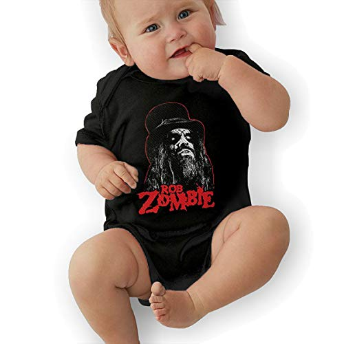 David M Sweet Rob Zombie Unisex Baby's Climbing Clothes Bodysuits Romper Short Sleeved Light for 0-24 Months Black]()