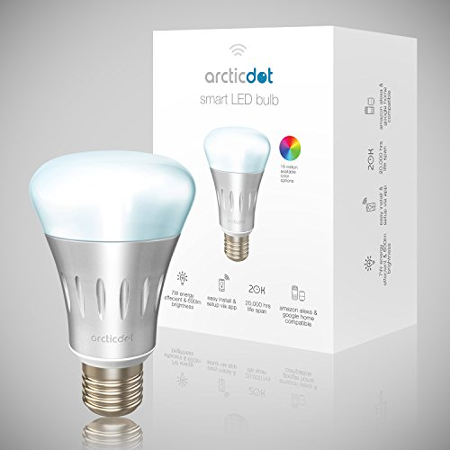 smart led bulb by arcticdot wifi light bulbs smartphone remote control bright multicolored. Black Bedroom Furniture Sets. Home Design Ideas