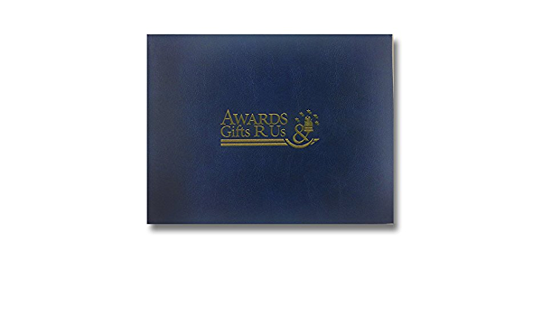 Customizable Padded Blue Certificate Holder With Acetate Cover includes Personalization