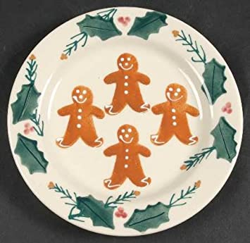 Hartstone Pottery Christmas Gingerbread Salad Plate : hartstone pottery dinnerware - pezcame.com