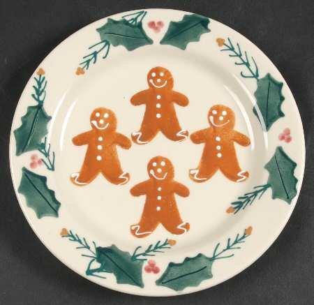 Amazon.com | Hartstone Pottery Christmas Gingerbread Salad Plate Salad Plates & Amazon.com | Hartstone Pottery Christmas Gingerbread Salad Plate ...