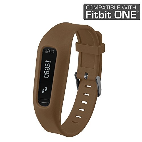 Fitbit One Band/Fitbit One Clip, HWHMH Replacement Band/Replacement Clip Holder for Fitbit One (No tracker) (Brown)