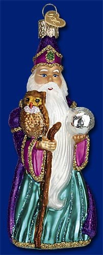 WIZARD Magician Owl Mystical Ornament Old World Christmas ()
