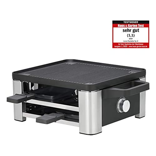 chollos oferta descuentos barato WMF Lono Raclette Raclette con sartenes y deslizador para 4 personas 870 W acero inoxidable mate