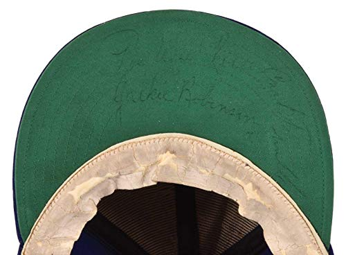 - Incredible Jackie Robinson Signed 1951 Brooklyn Dodgers Game Used Hat COA - JSA Certified - MLB Autographed Game Used Bats