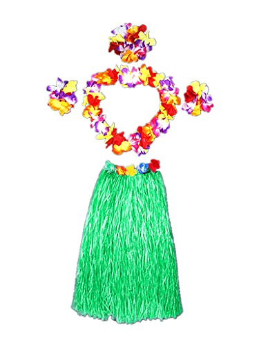 Hawaii Dancing Hula Set Grass Skirt Adult Costume Suit(Skirt -