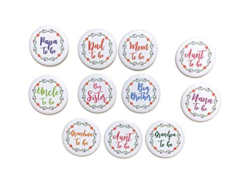 mom dad aunt uncle grandma grandpa Nana Papa to be big sister big brother FIESTA Cinco de Mayo Mexican theme pin back badge baby shower party favors props gift ()