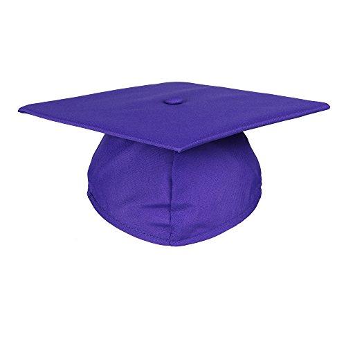 Newrara Unisex Matte Adult Graduation Cap Only (Purple)