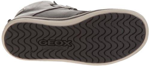 Geox J Elvis C - Zapatillas de Deporte de cuero niño gris - Gris (Dk Grey/Off White)