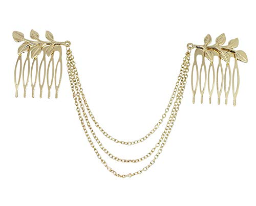 (Greek Roman Goddess Costume Toga Party Gold Leaves Hair Chain (Festival Hair Chain Festival Hair)