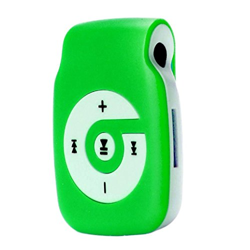 Start Sport Relax Mini Clip Light Protable USB MP3 Player Support Micro SD TF Card Music Media-Green