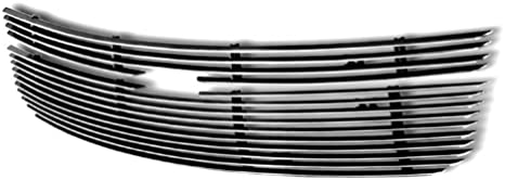 APS Compatible with 2005-2009 Chevy Equinox Black Main Upper Billet Grille Insert C65734H