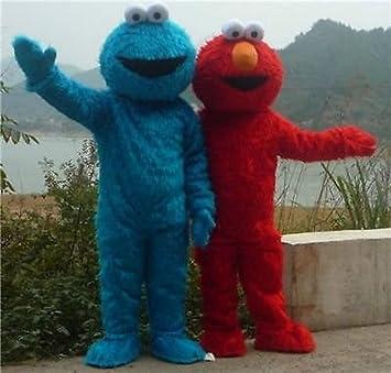 Trajes de la Mascota de Elmo de Plaza Sésamo Largo Rojo del ...