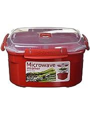 Sistema 1102 Microwave Steamer 2.4L - Red Medium