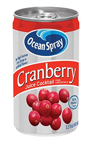 (Ocean Spray Juice Drink, Cranberry Juice Cocktail, 5.5 Ounce Mini Cans (Pack of 48))