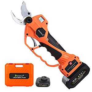 BAIDELE Professional Cordless Electric Pruning Shears,30mm Cutting Diameter,Electric Pruner with 2PCS Backup…