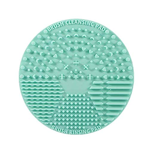 - Brush Cleaning Mat ,Silicone Makeup Cleaning Brush Scrubber Mat Portable Washing Tool Cosmetic Brush Cleaner with Suction Cup for Valentines Day