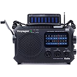 Kaito KA500 5-way Powered Emergency AM/FM/SW NOAA Weather Alert Radio with Solar,Dynamo Crank,Flashlight and Reading Lamp, Color Black