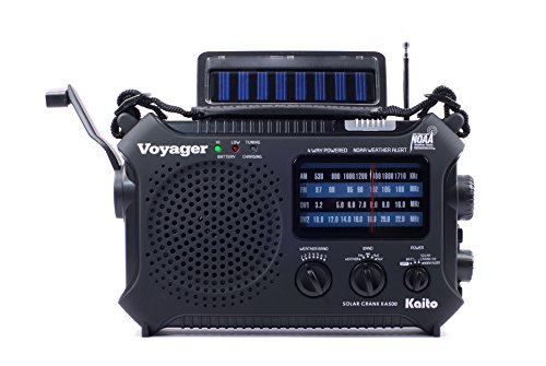 Kaito Ka500 5 Way Powered Emergency Am Fm Sw Noaa Weather Alert Radio With Solar Dynamo Crank Flashlight And Reading Lamp  Color Black