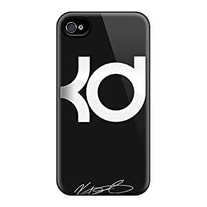Protector Cell-phone Hard Cover For Iphone 4/4s (OMk11369yEXs) Provide Private Custom Attractive Kevin Durant Pictures