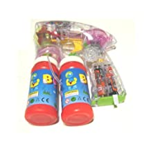 Led Bubble Gun with Endless Bubbles, and Light up ~ Batteries Included