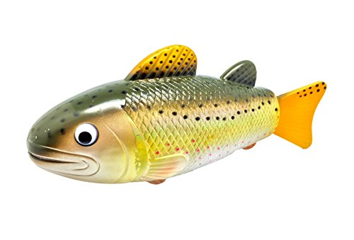 Rittle brown trout realistic swimming fish water pool for Battery operated fish
